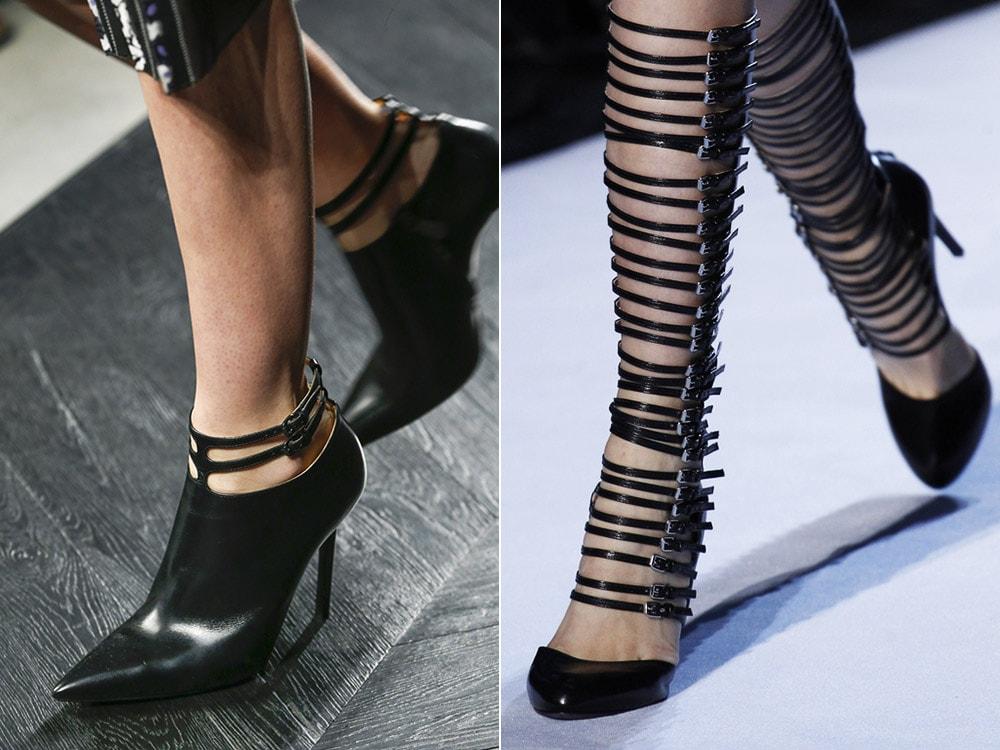 Женская обувь с ремешками
