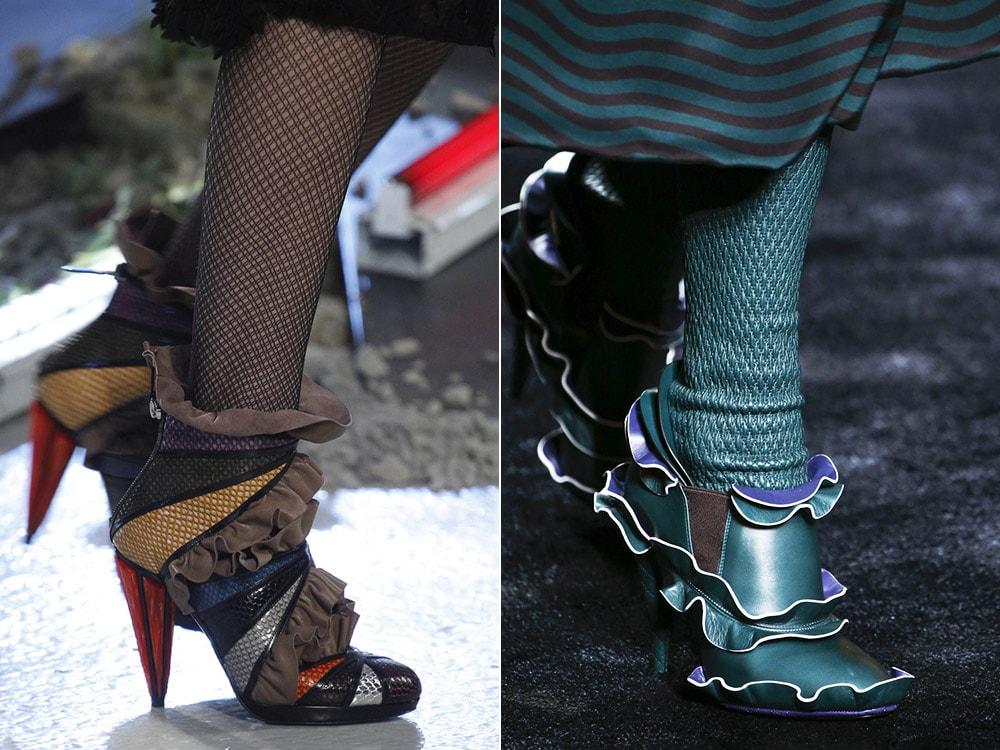 Женская обувь с оборками