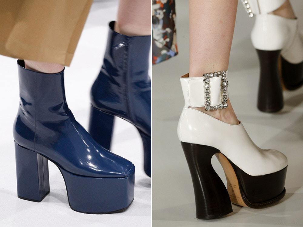 Женская обувь на платформе с каблуком