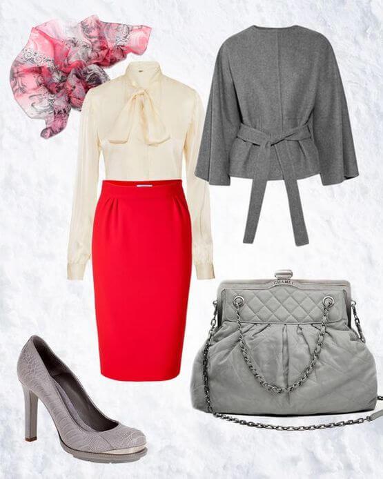 Какую обувь подобрать под красную юбку