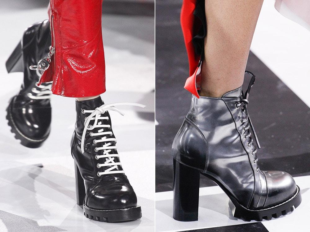 Обувь на рифленой подошве с каблуком