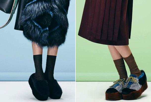 Меховые женские ботинки
