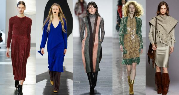 Модные повседневные платья осень-зима 2016-2017