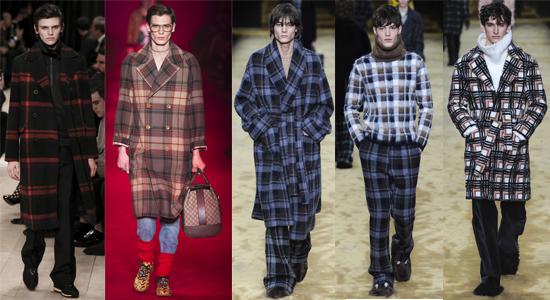Мужская одежда в клетку осень-зима 2016-2017
