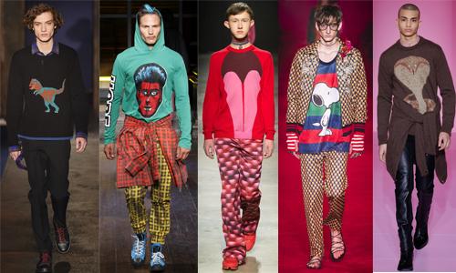 Мужская одежда с яркими принтами