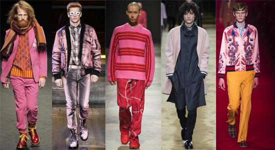 Мужская розовая одежда