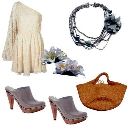 Романтический образ с обувью сабо