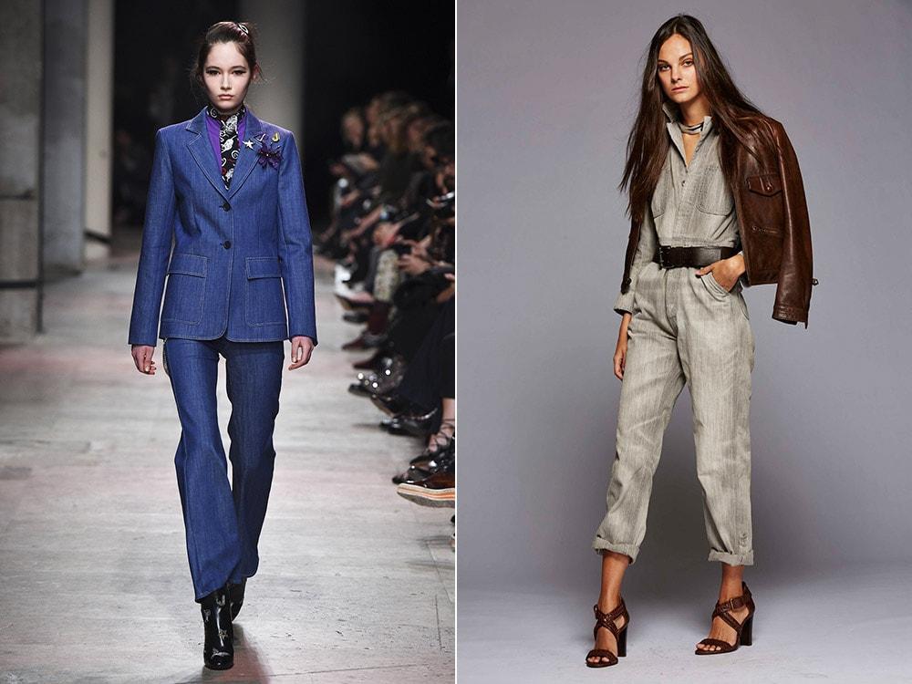 Женские джинсовые костюмы