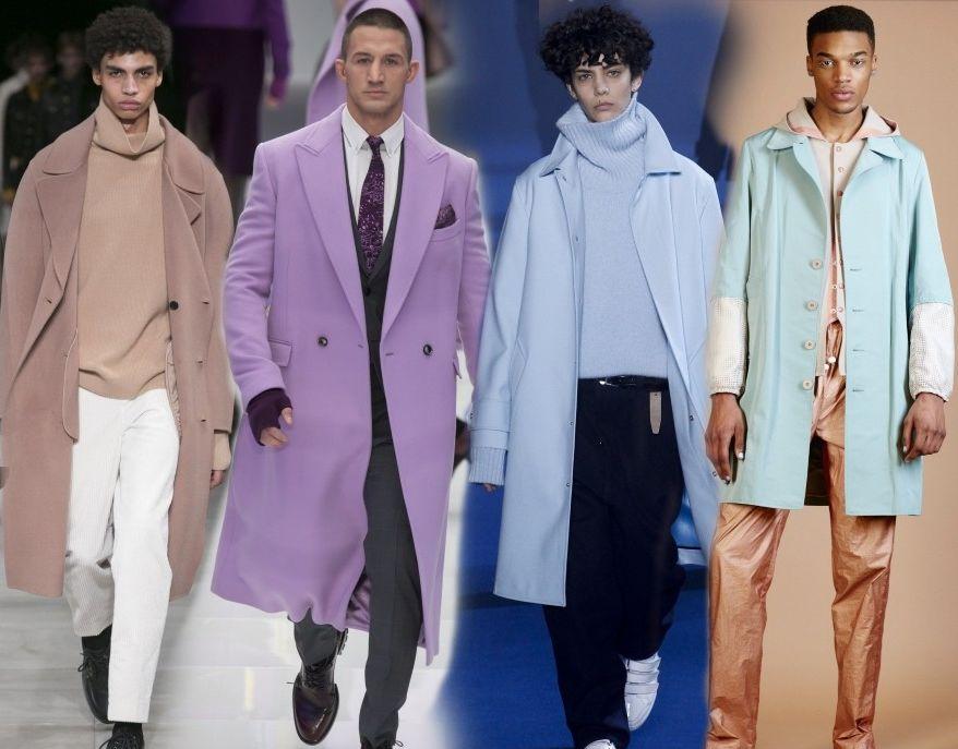 Мужские пальто пастельных цветов