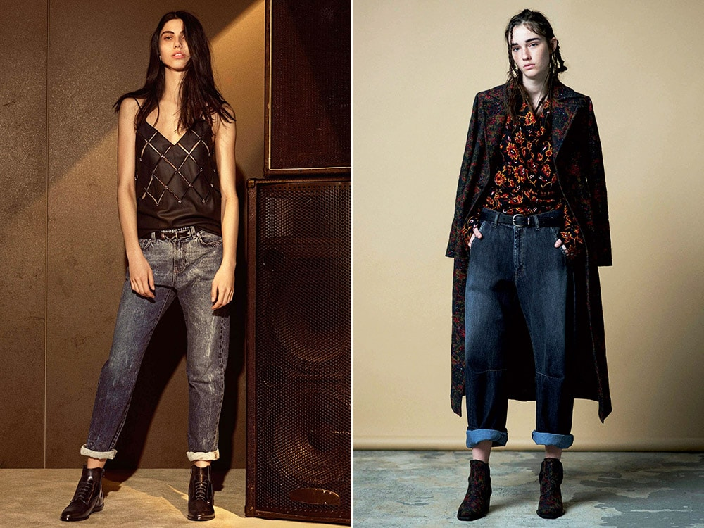 Женские джинсы с отворотами