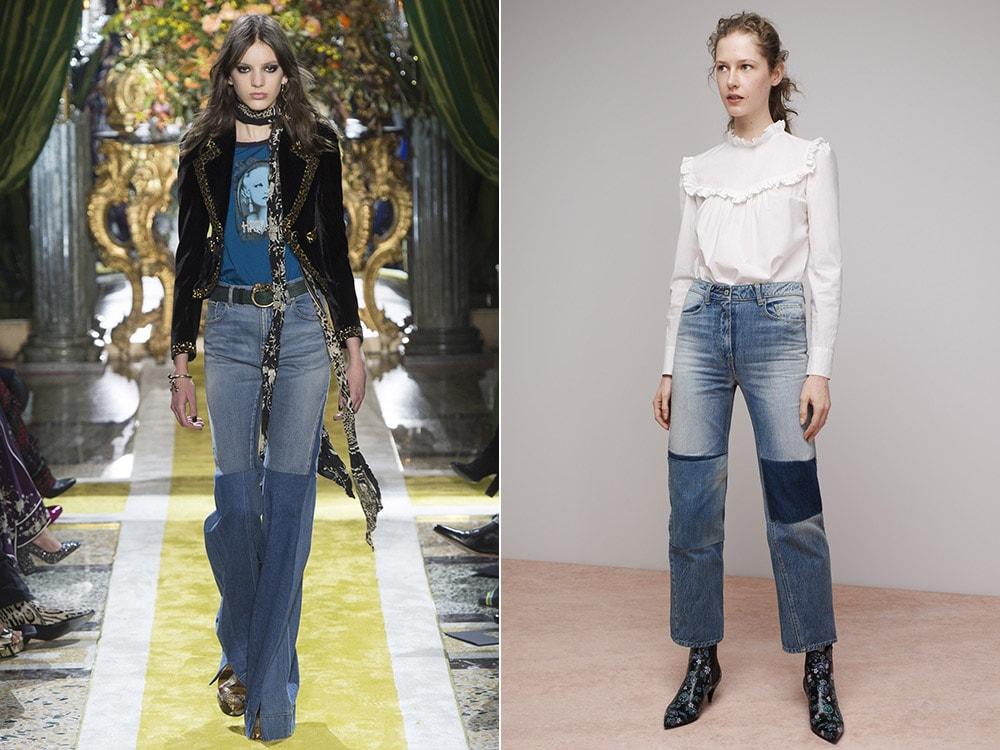 Женские джинсы со вставками