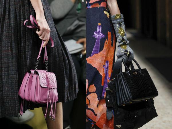 Мода на две сумки осень-зима 2016-2017