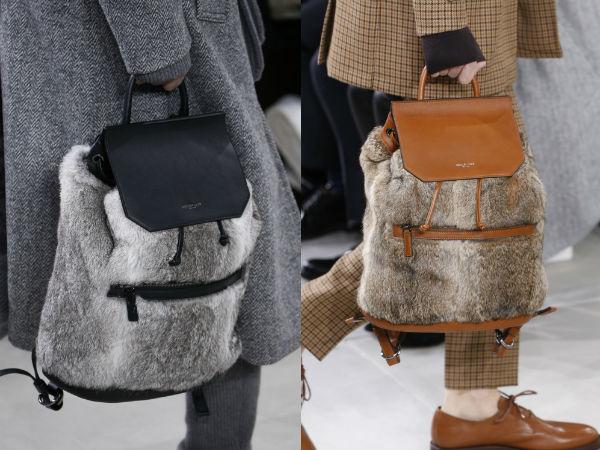 Меховые рюкзаки осень-зима 2016-2017