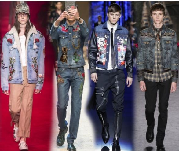 Мужские джинсовые куртки