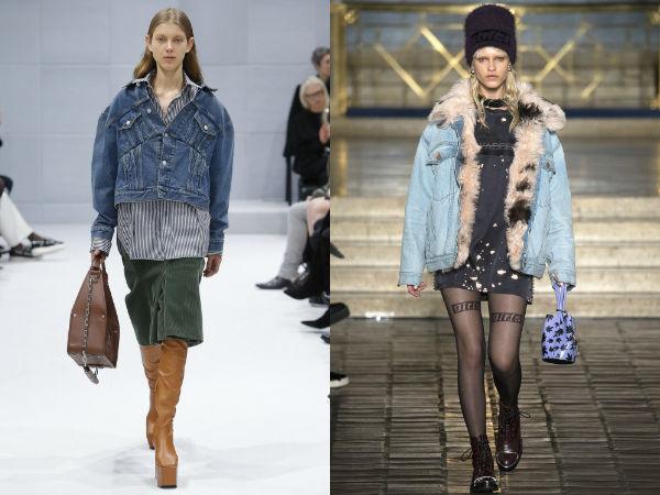 Джинсовые куртки в стиле оверсайз