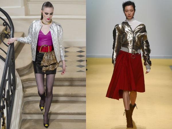 Серебристые женские куртки осень-зима 2016-2017