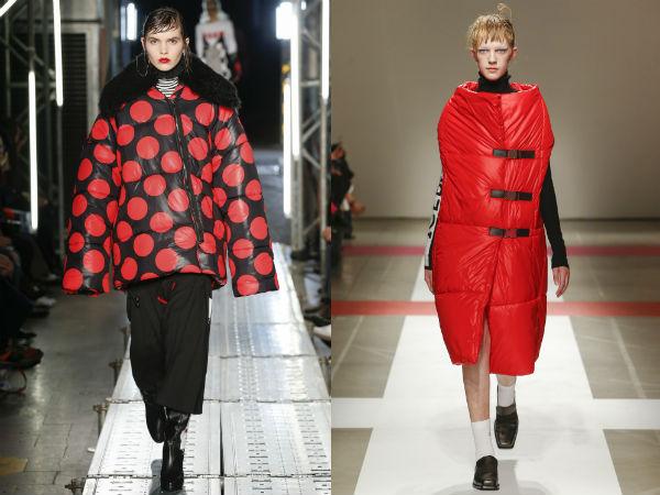 Красные женские куртки осень-зима 2016-2017