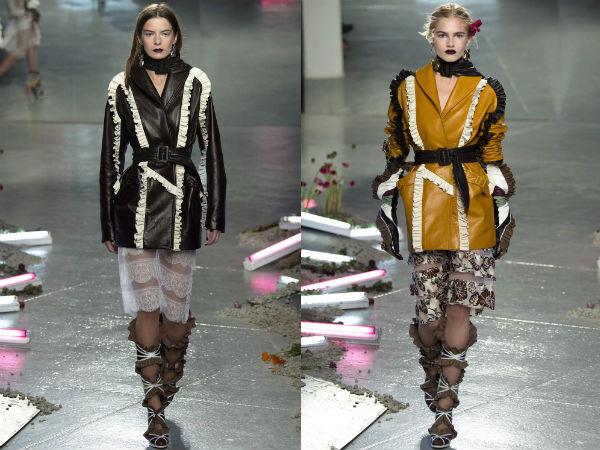 Женские куртки с воланами и рюшами