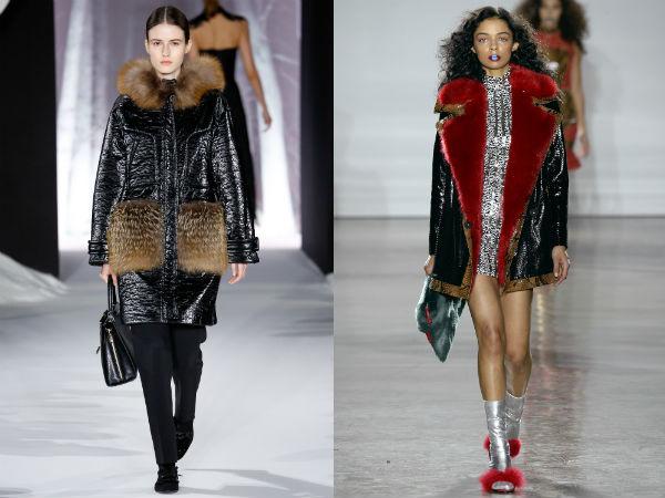 Женские куртки с меховыми воротниками