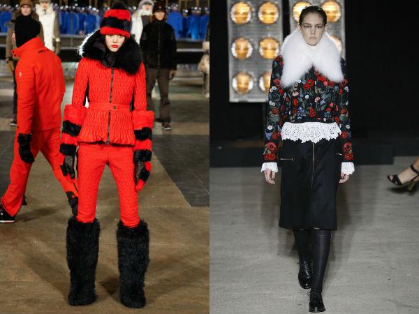 Женские куртки, отороченные мехом осень-зима 2016-2017