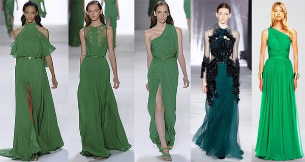 Модные вечерние платья зеленого цвета