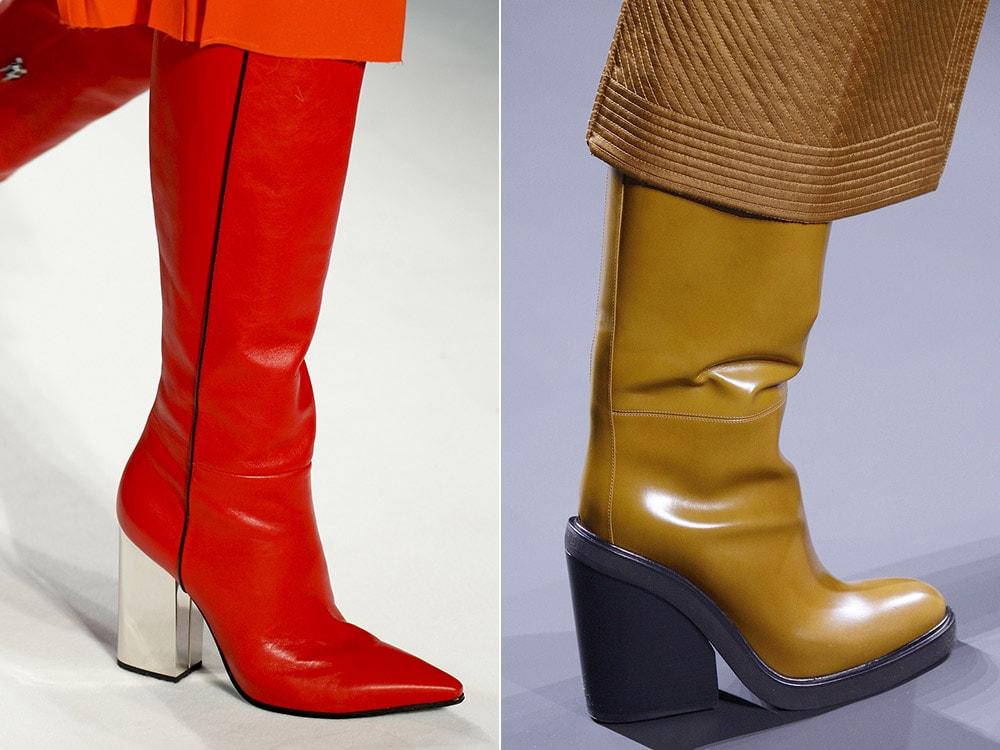 Женские сапоги на устойчивом каблуке