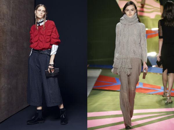 Модные женские свитера крупной вязки