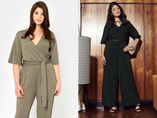 Модные комбинезоны для полных женщин