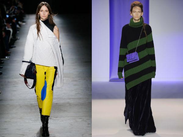 Модные женские свитера асимметричного кроя