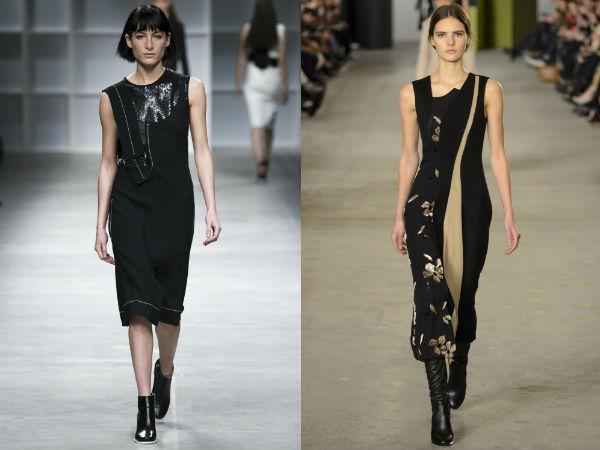 Деловые платья асимметричного кроя