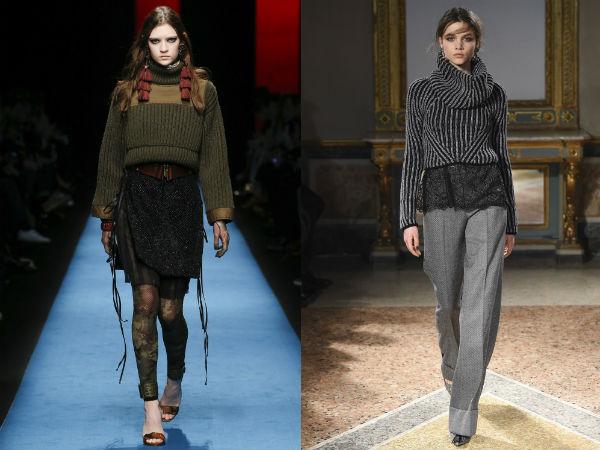 Укороченные женские свитера осень-зима 2016-2017