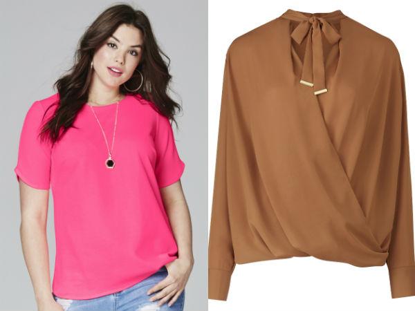 Модные женские блузки для полных