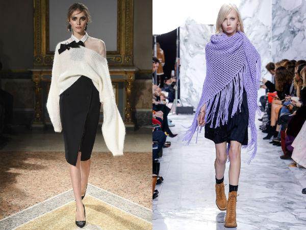Модные вязаные палантины осень-зима 2016-2017