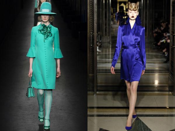 Модные цвета деловых платьев осень-зима 2016-2017