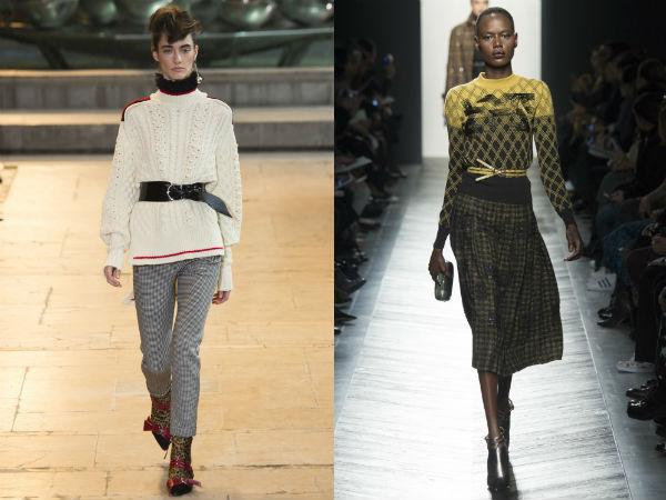 Женские свитера с поясом