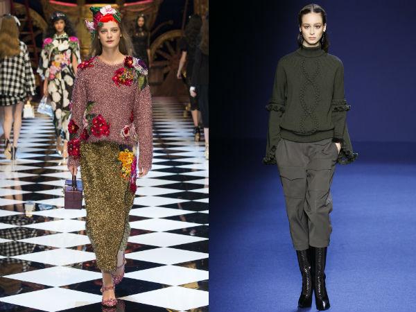 Декор женских свитеров осень-зима 2016-2017