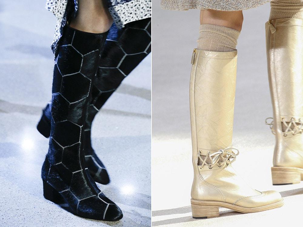 Женские сапоги на низком устойчивом каблуке