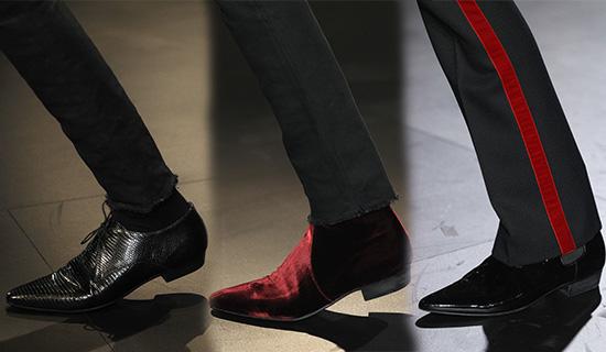 Мужские туфли с острым носом