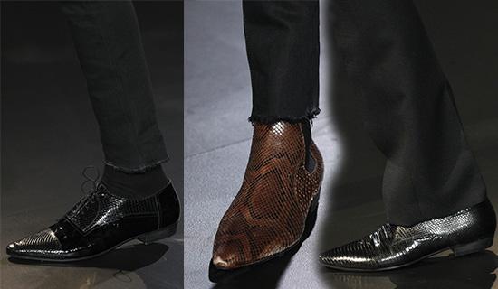 Мужские туфли из змеиной кожи