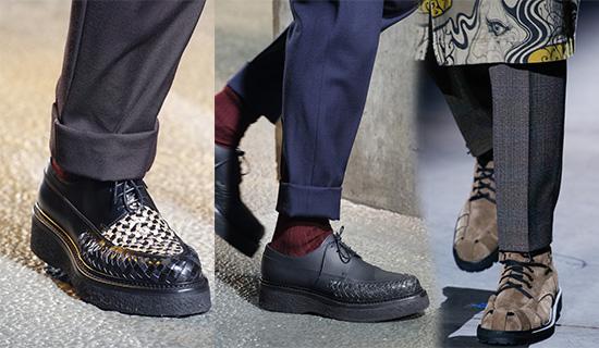 Мужские туфли с плетением