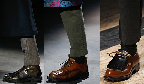 Мужские туфли с декоративной накладкой