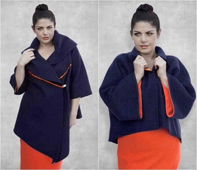 Укороченные пальто для полных женщин