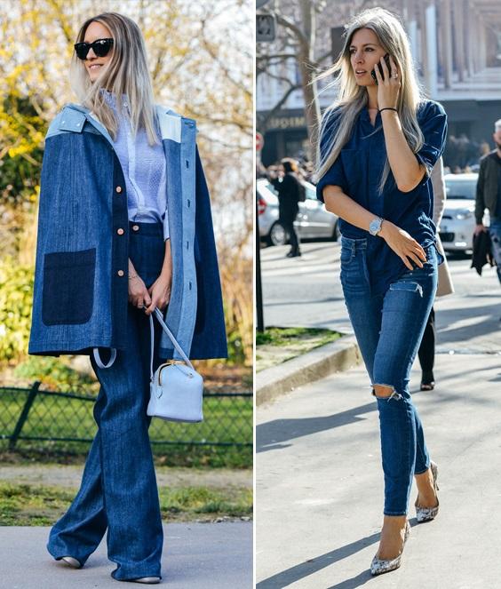 Высокие джинсы клеш. Как носить
