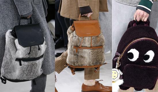 Меховые рюкзаки