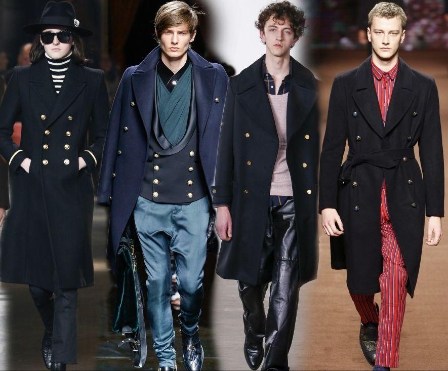Мужские пальто в военном стиле