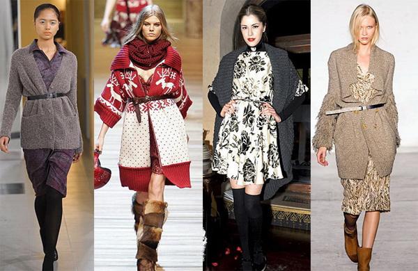 Как носить кардиган с рубашкой осень-зима 2016-2017