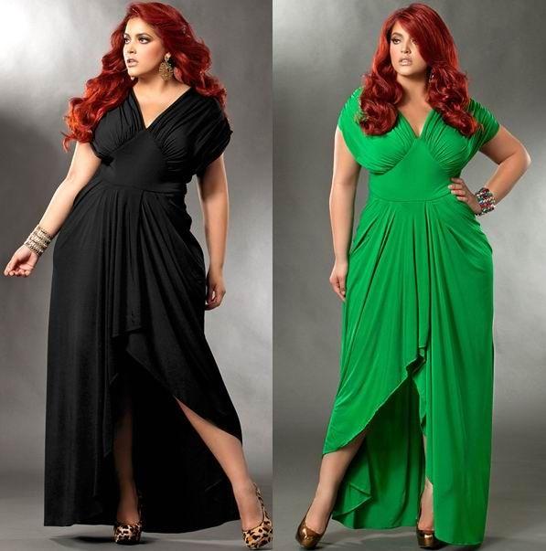 Длинное платье для полных женщин своими руками
