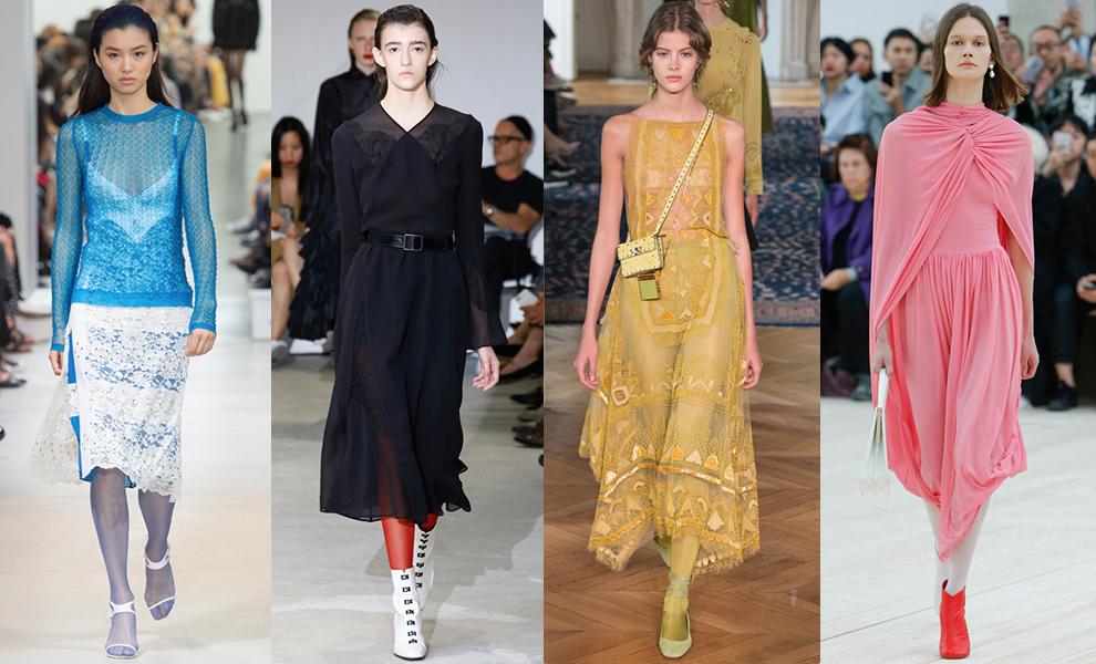 Модные цветные капроновые колготки 2017
