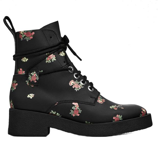 Женские ботинки с цветочным принтом