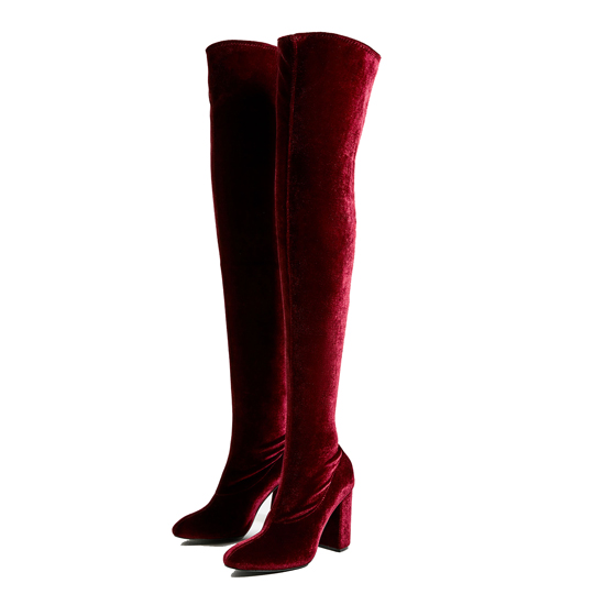 Красные сапоги-чулки